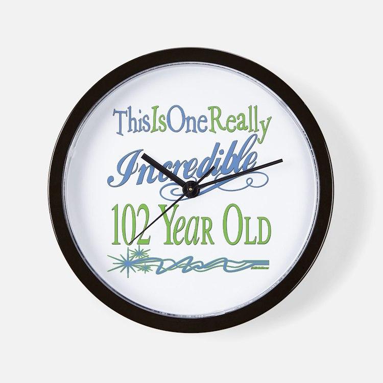 Incredible 102nd Wall Clock