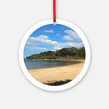 Sunny Pearl Beach, NSW Round Ornament