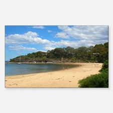 Sunny Pearl Beach, NSW Rectangle Decal