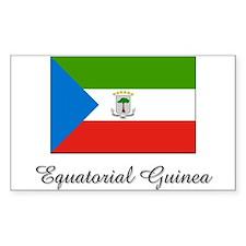 Equatorial Guinea Flag Rectangle Decal