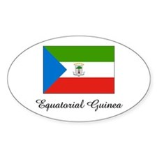 Equatorial Guinea Flag Oval Decal