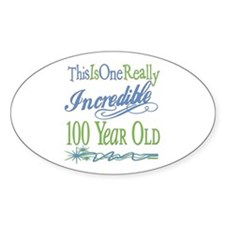 Incredible 100th Oval Decal