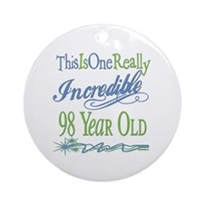 Incredible 98th Ornament (Round)