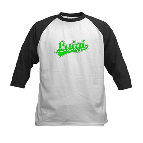 Retro Luigi (Green) Kids Baseball Jersey