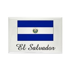 El Salvador Flag Rectangle Magnet