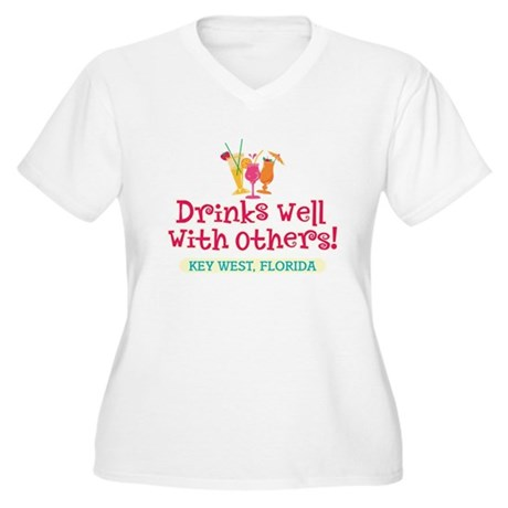 Drinks Well With Others - Women's Plus Size V-Neck