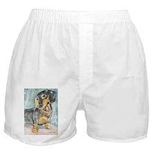 """Total Tude"" a Dachshund Boxer Shorts"