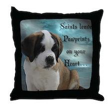 St. Bernard Puppy Throw Pillow