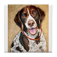 A German Shorthaired Pointer Tile Coaster