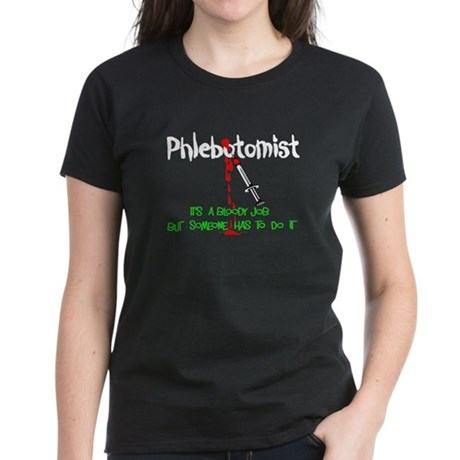 Phlebotomist Women's Dark T-Shirt