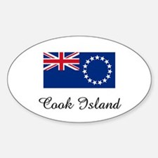 Cook Island Flag Oval Decal