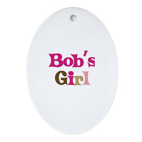 Bob's Girl Oval Ornament