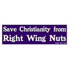 Save Christianity Bumper Bumper Sticker