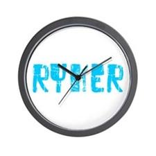 Ryker Faded (Blue) Wall Clock