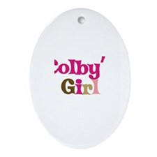 Colby's Girl Oval Ornament