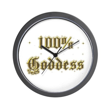 100% Goddess Wall Clock