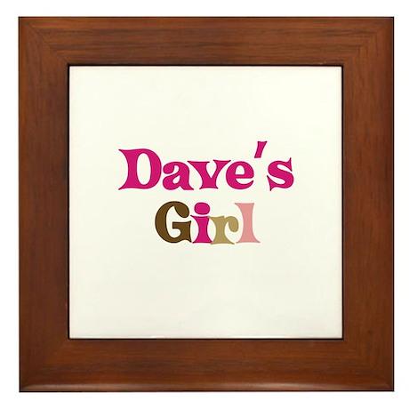 Dave's Girl Framed Tile