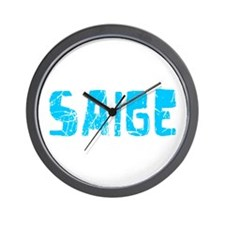 Saige Faded (Blue) Wall Clock