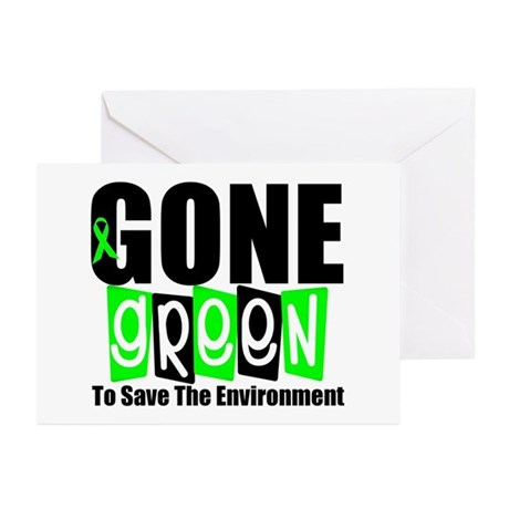 Gone Green Environment Greeting Cards (Pk of 10)