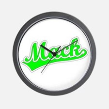 Retro Mack (Green) Wall Clock