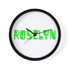 Roselyn Faded (Green) Wall Clock