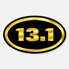 13.1 Marathon Gold and Black Oval Decal