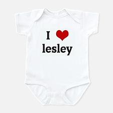 I Love lesley Infant Bodysuit