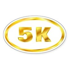 5 K Runner Sticker Gold (Oval)