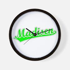 Retro Madisen (Green) Wall Clock