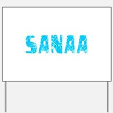 Sanaa Faded (Blue) Yard Sign