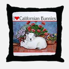 Love Californian Bunnies Throw Pillow