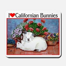 Love Californian Bunnies Mousepad