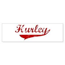 Hurley (red vintage) Bumper Bumper Sticker