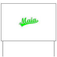 Retro Maia (Green) Yard Sign