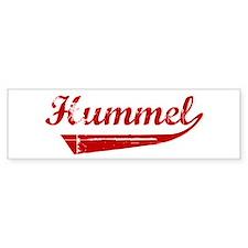 Hummel (red vintage) Bumper Bumper Sticker