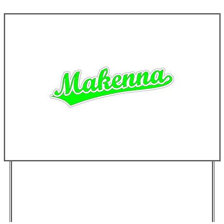 Retro Makenna (Green) Yard Sign