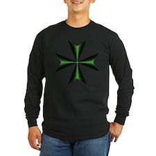 Green Maltese Cross T