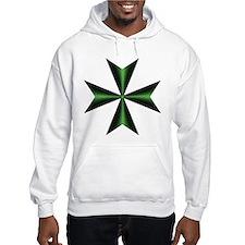 Green Maltese Cross Hoodie