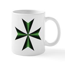 Green Maltese Cross Small Mugs