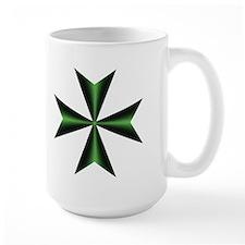 Green Maltese Cross Mug