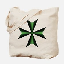 Green Maltese Cross Tote Bag