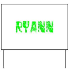 Ryann Faded (Green) Yard Sign