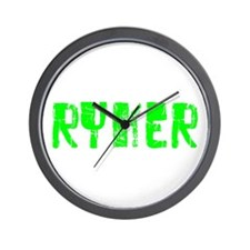 Ryker Faded (Green) Wall Clock