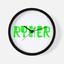 Ryker Faded (Green) Wall Clock