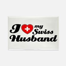 I love my Swiss Husband Rectangle Magnet