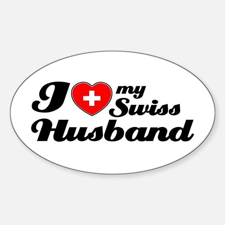 I love my Swiss Husband Oval Decal