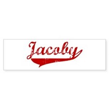 Jacoby (red vintage) Bumper Bumper Sticker