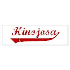 Hinojosa (red vintage) Bumper Bumper Sticker