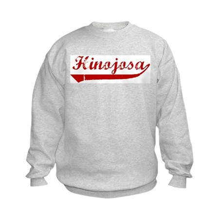 Hinojosa (red vintage) Kids Sweatshirt