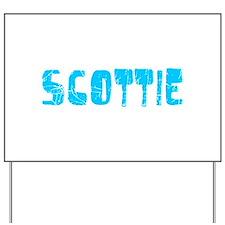 Scottie Faded (Blue) Yard Sign